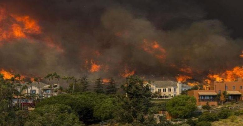 آتش سوزی در کالیفرنیا - آتش سوزی در آمریکا - جنگل های آمریکا