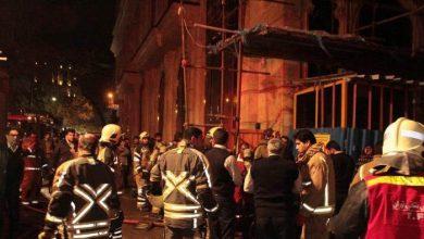 آتش سوزی در خیابان فرشته - حریق در خیابان فرشته