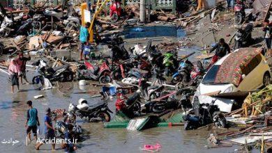 حادثه سونامی در اندونزی - سایت حوادث - اخبار حوادث