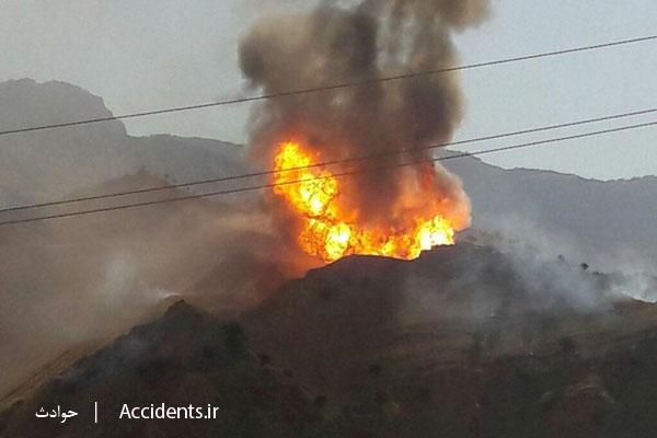 حادثه آتش سوزی در نزدیکی خط لوله پارس جنوبی - سایت حوادث