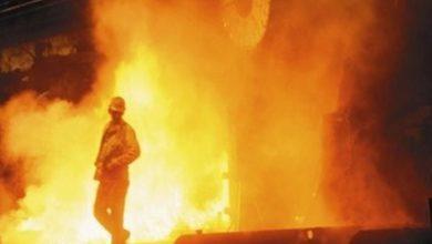 حادثه انفجار در شرکت فولاد یزد - سایت حوادث - اخبار حوادث